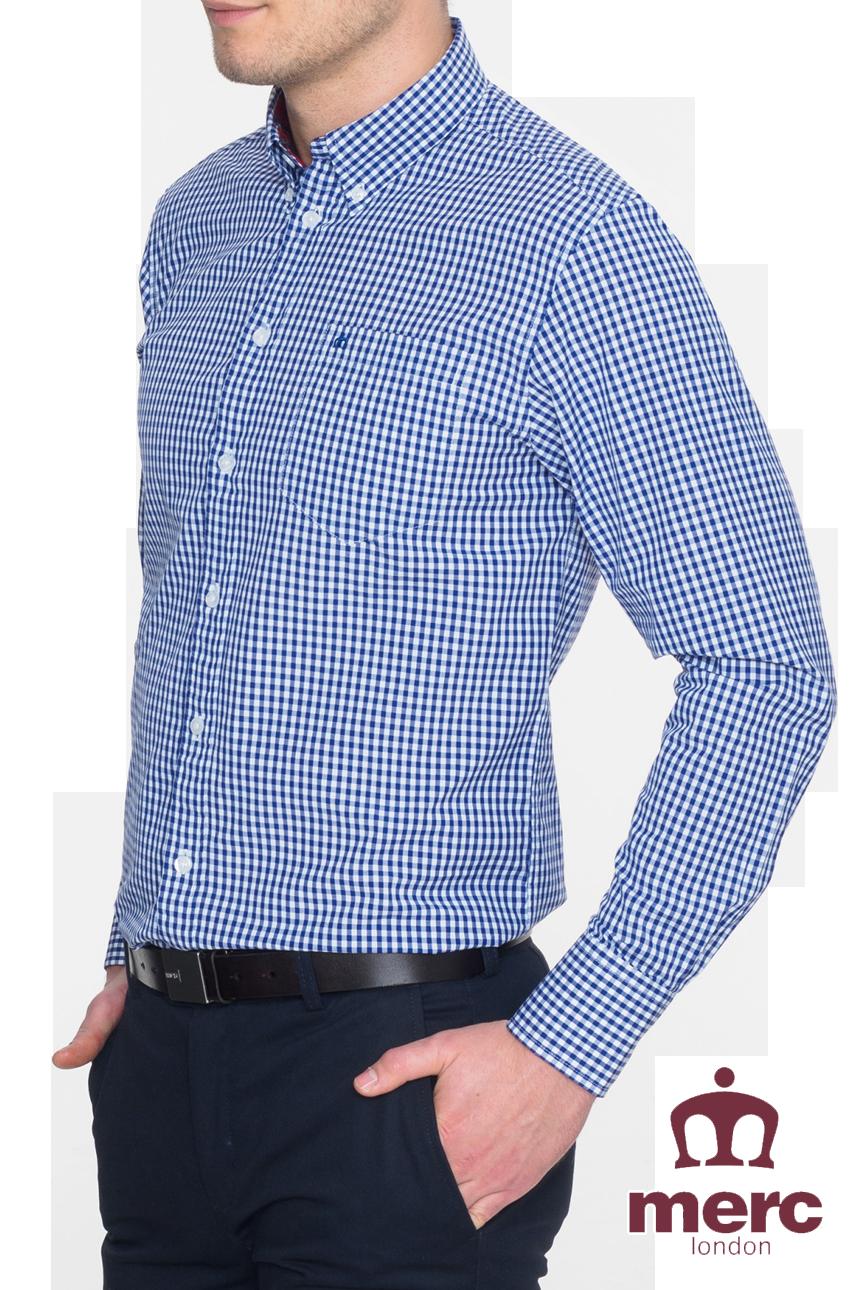 Koszula MERC LONDON JAPSTER SHIRT Granatowa