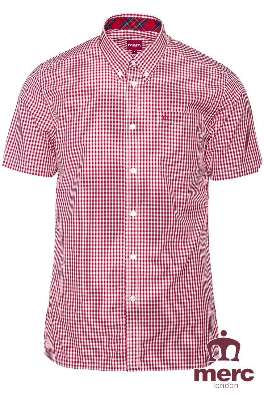 Koszula MERC LONDON TERRY SHIRT Bordowa