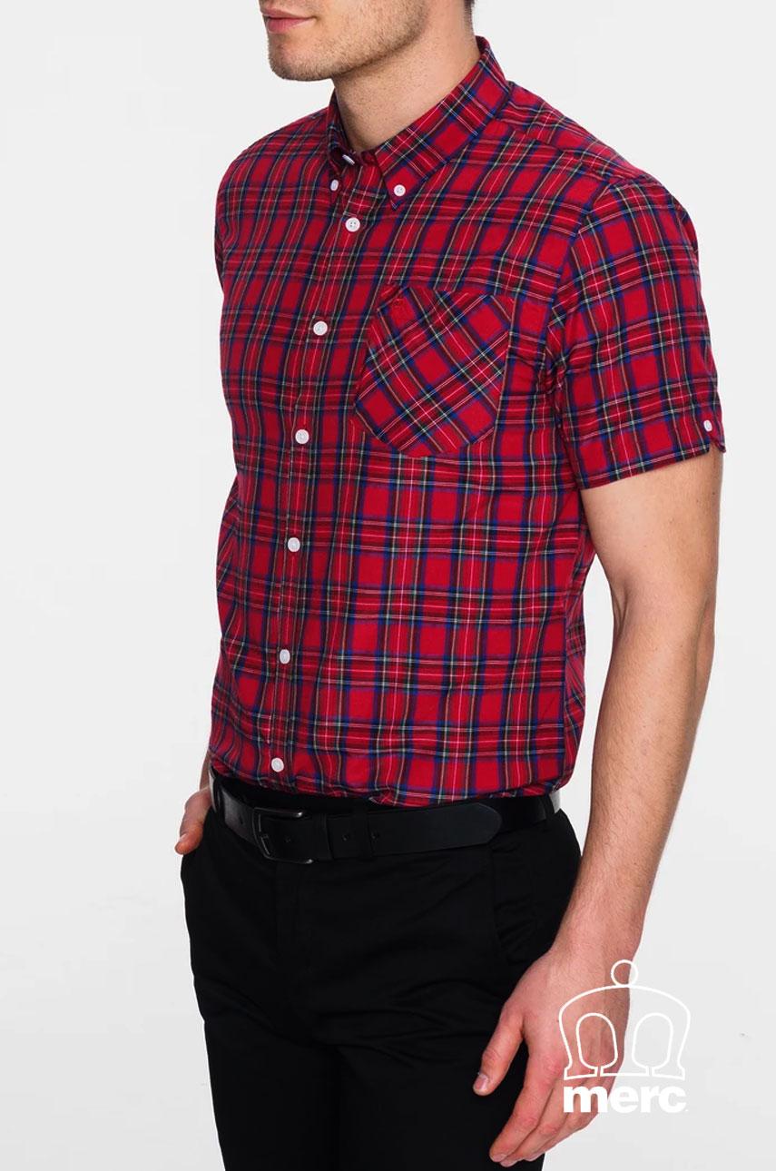 Koszula MERC LONDON MACK SHIRT Czerwona