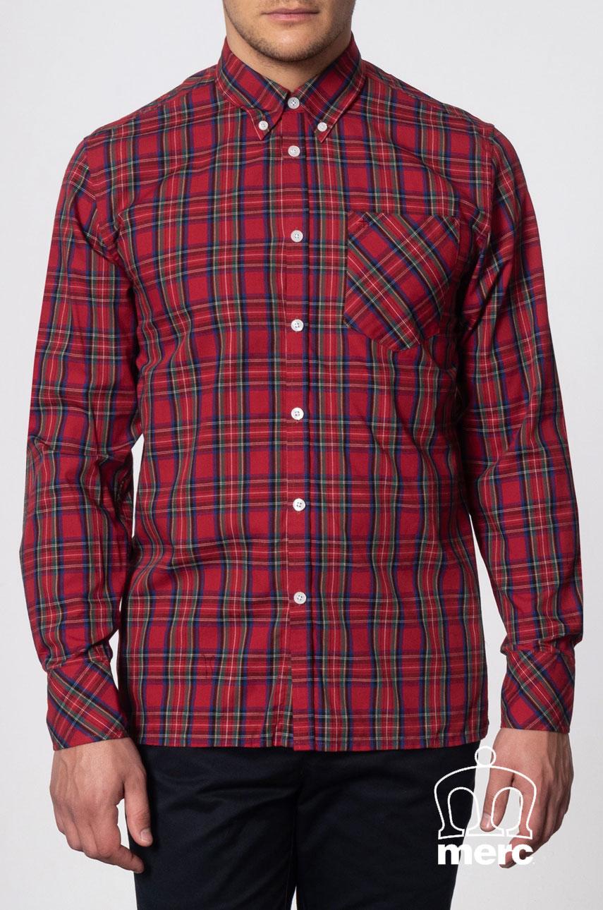 Koszula MERC LONDON NEDDY Shirt Czerwona