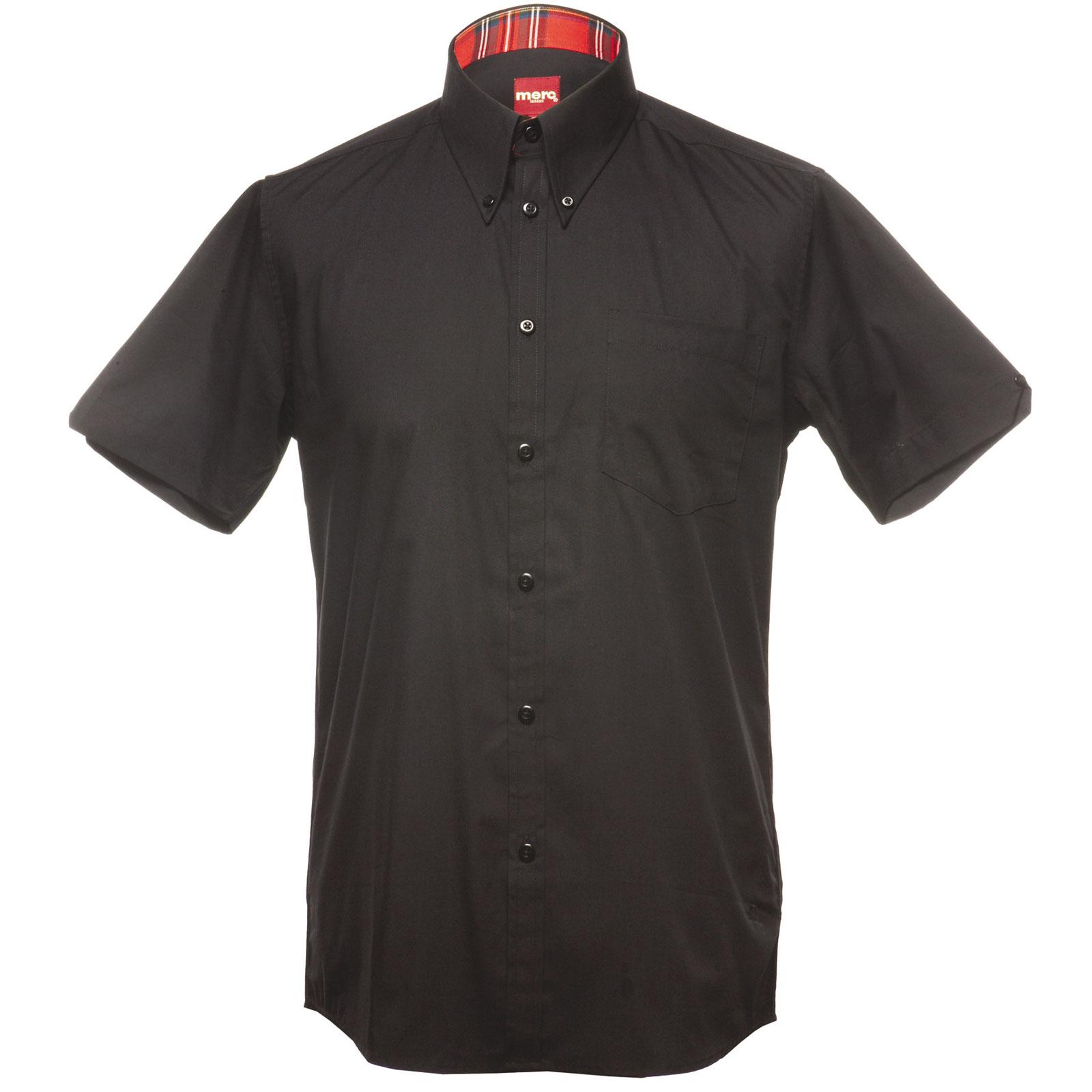 Koszula MERC LONDON  BAXTER SHIRT Czarna