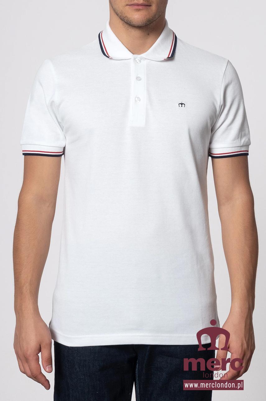 Koszulka MERC LONDON CARD POLO SHIRT Biała