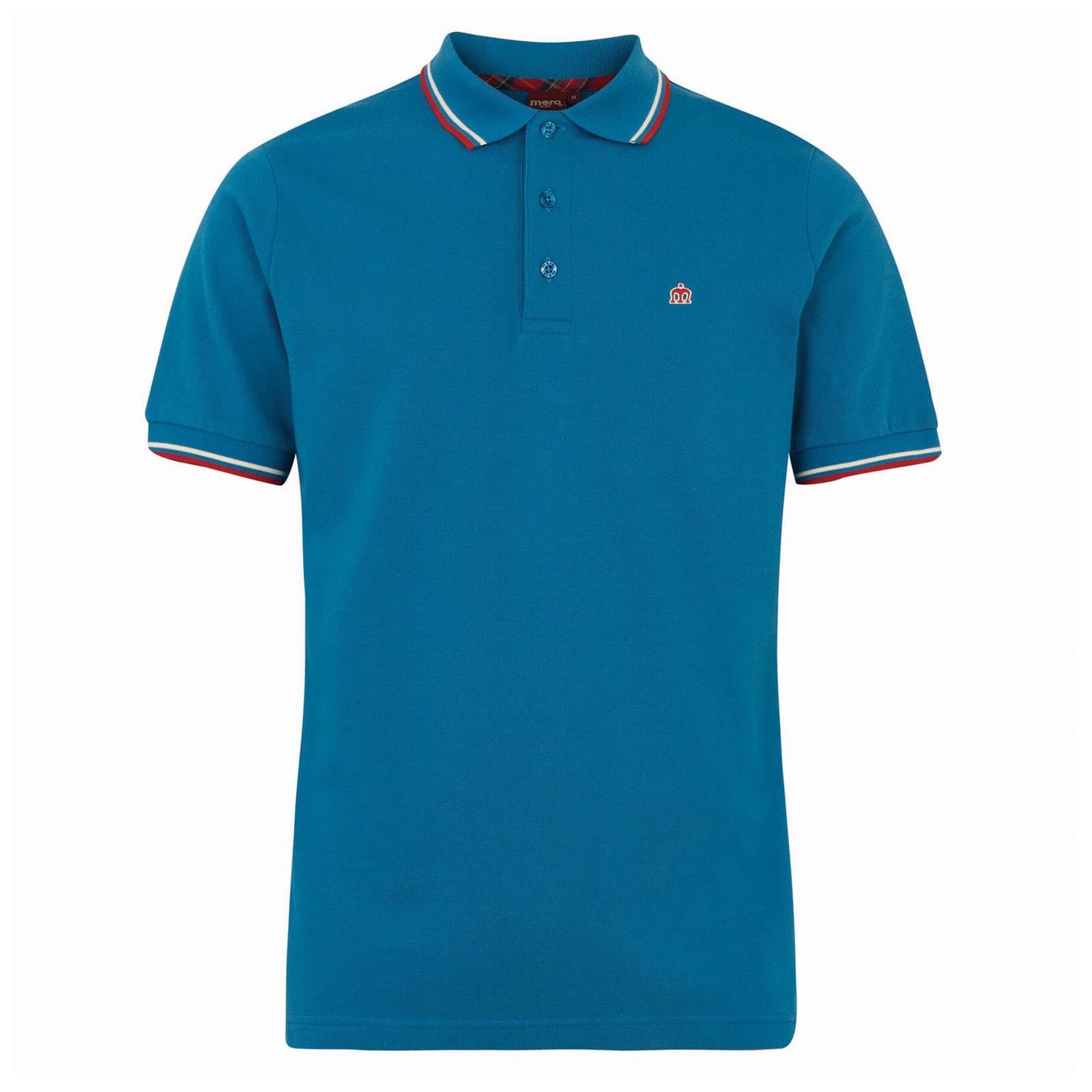 Koszulka MERC LONDON POLO CARD SHIRT Niebieska