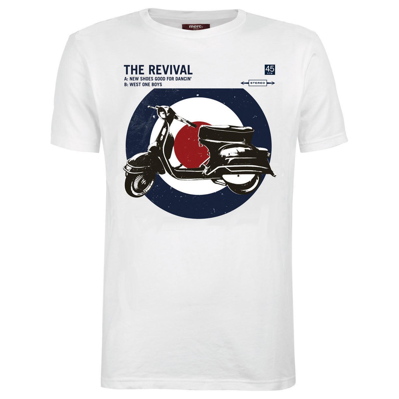 Koszulka MERC LONDON COSTELLO SCOOTER T SHIRT Biała