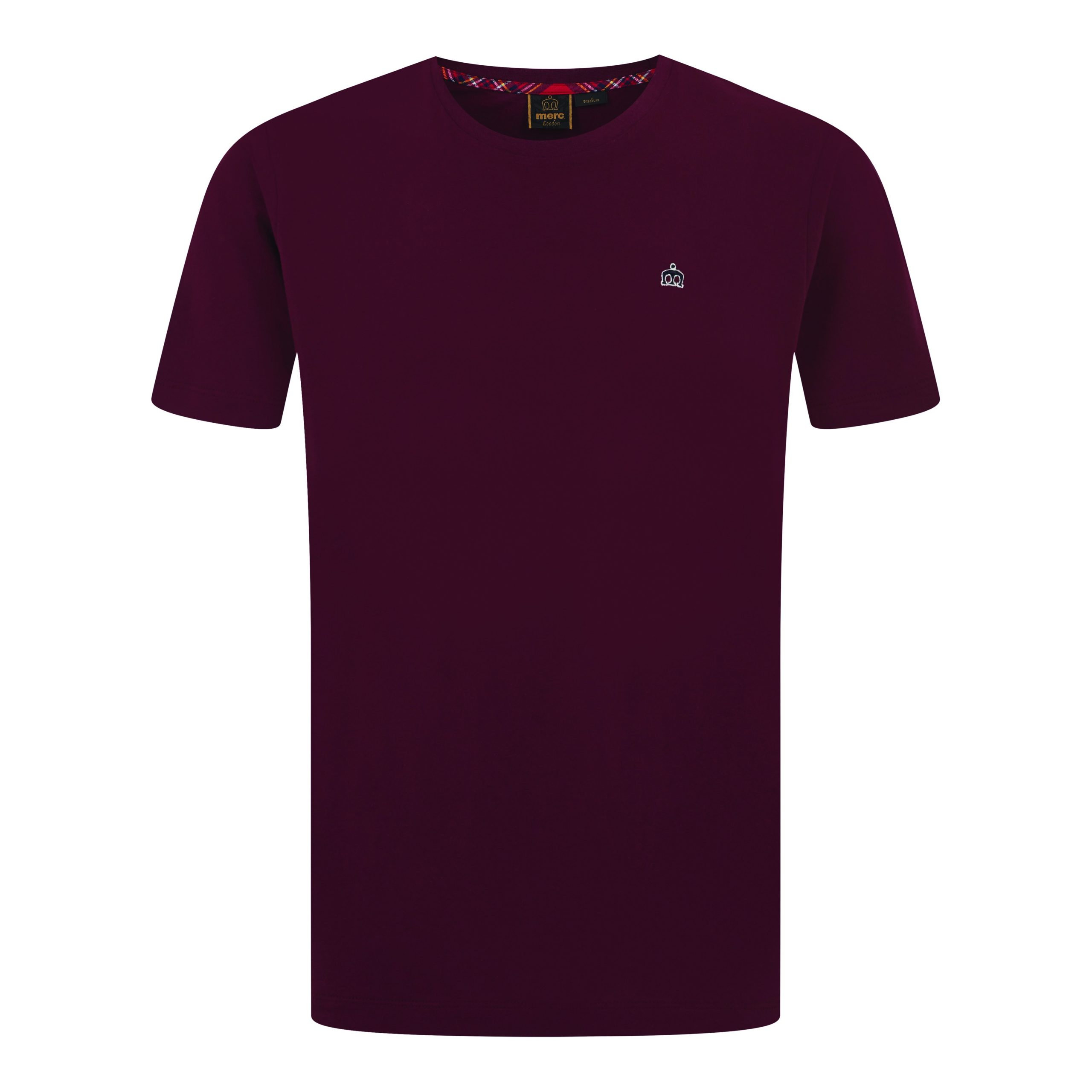 Koszulka MERC LONDON KEYPORT T SHIRT, bordowa