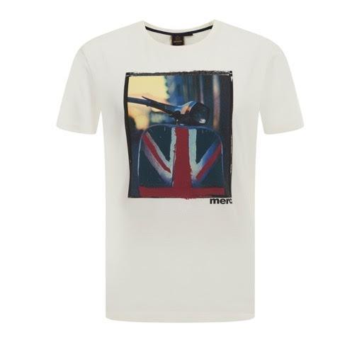 Koszulka MERC LONDON SPINNER T SHIRT, biała