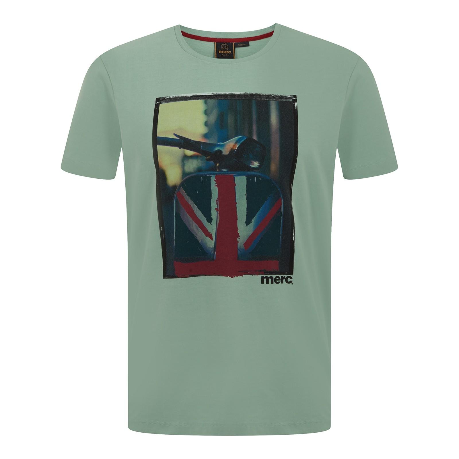 Koszulka MERC LONDON SPINNER T SHIRT, zielona
