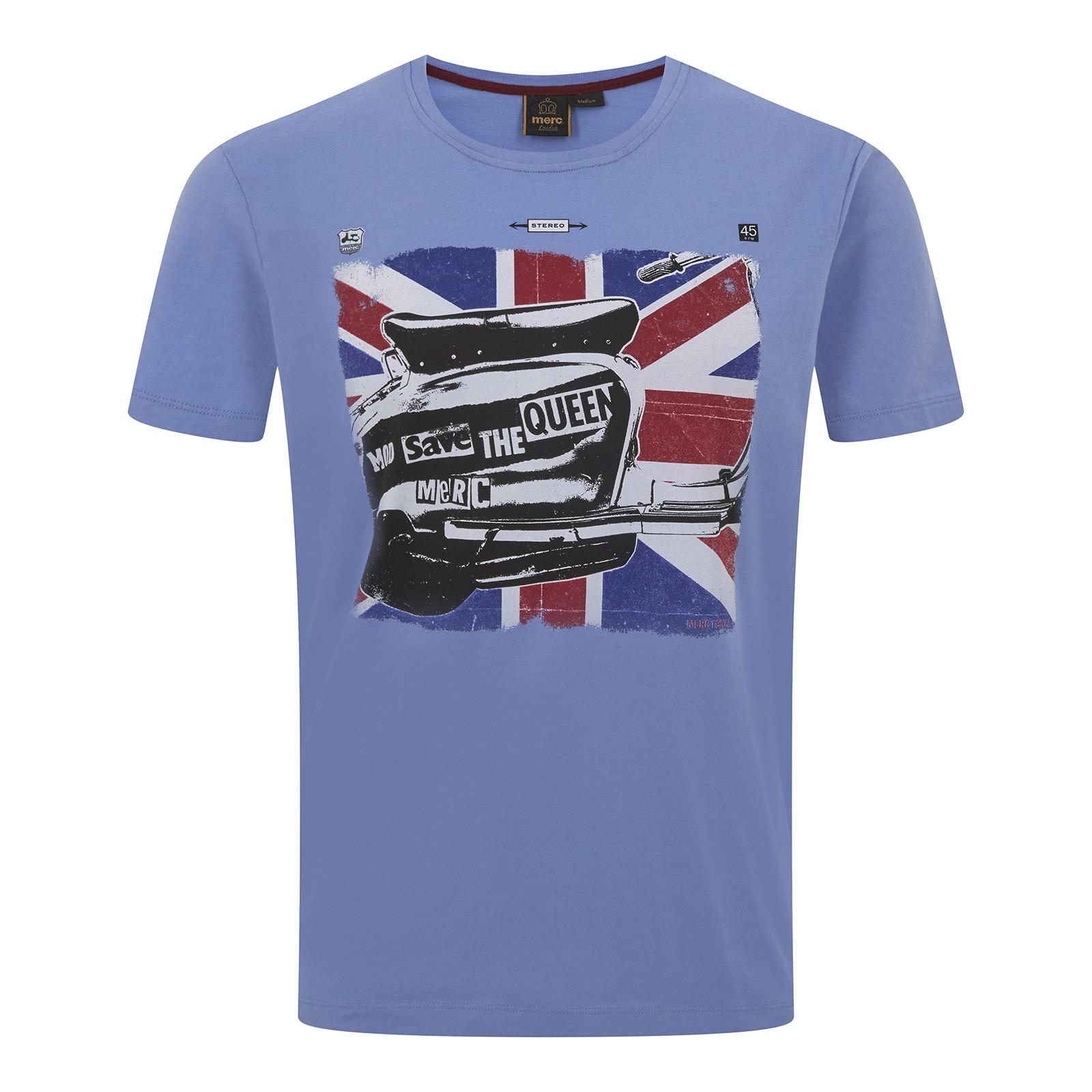 Koszulka MERC LONDON SONIK PRINT T-SHIRT Niebieska