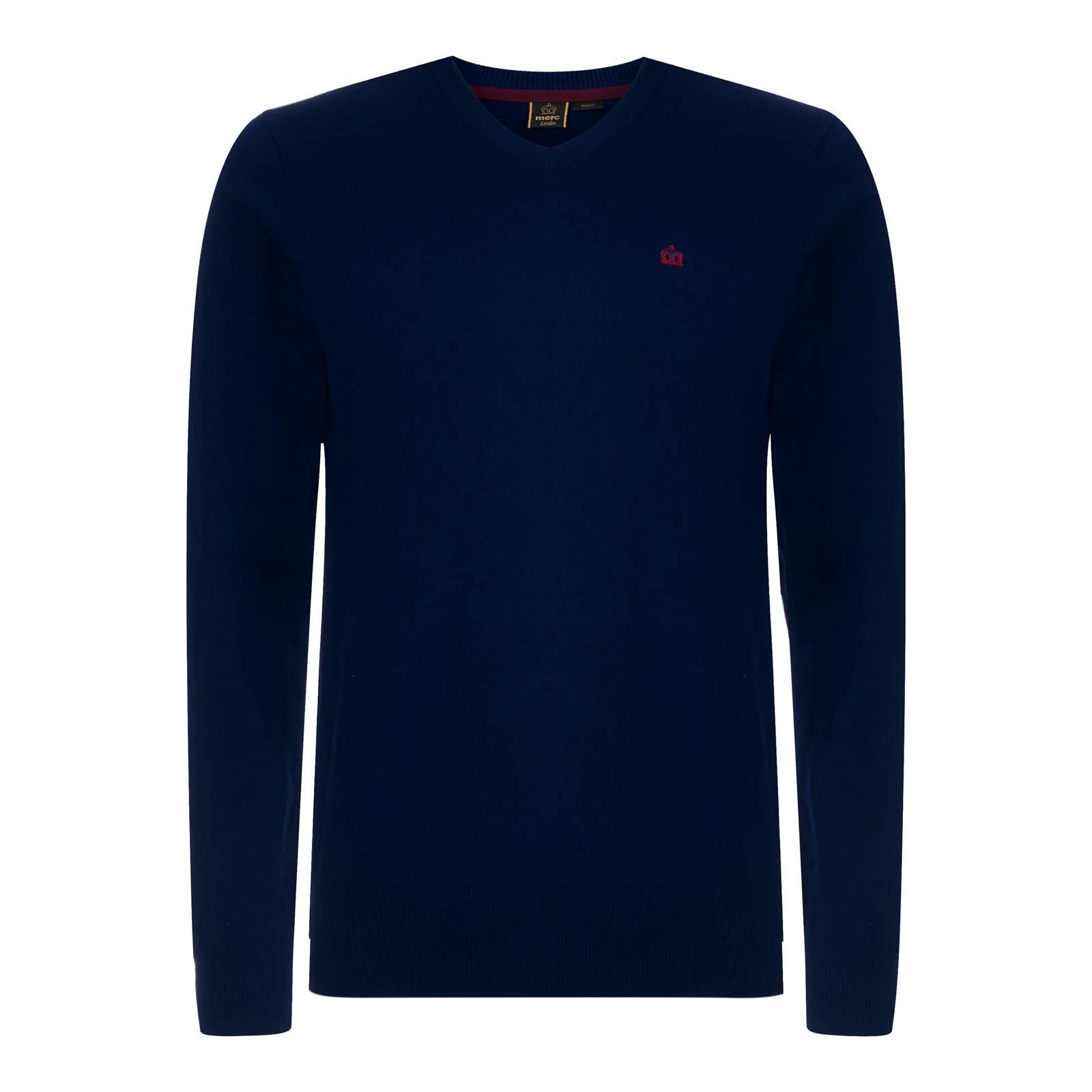 Sweter MERC LONDON CORBY granatowy