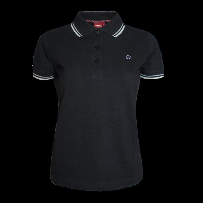 Damska koszulka polo MERC LONDON  RITA czarna