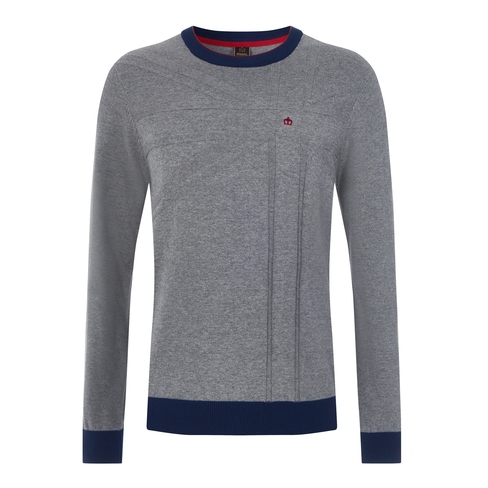 Sweter MERC LONDON VERNON szary
