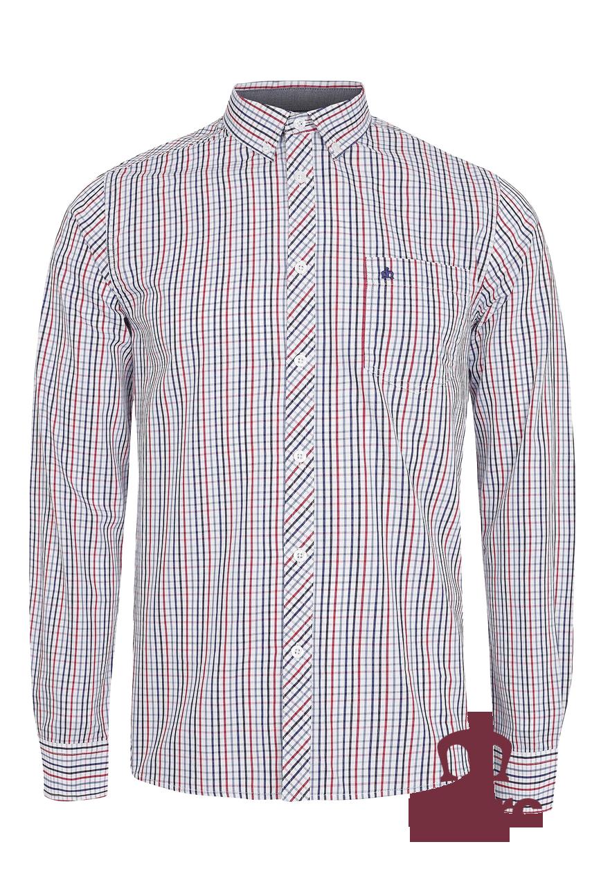 Koszula z długim rękawem MERC LONDON RANGER biała