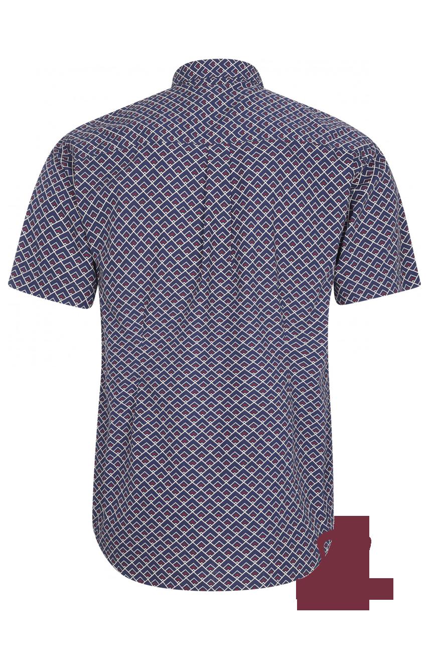 Koszula z krótkim rękawem MERC LONDON GARRISON granatowa