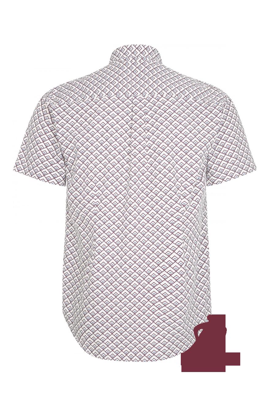 Koszula z krótkim rękawem MERC LONDON GARRISON biała