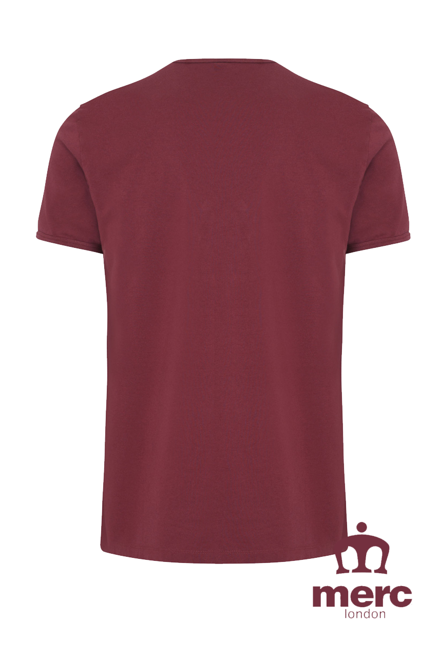 T-Shirt MERC LONDON TICKET bordowa